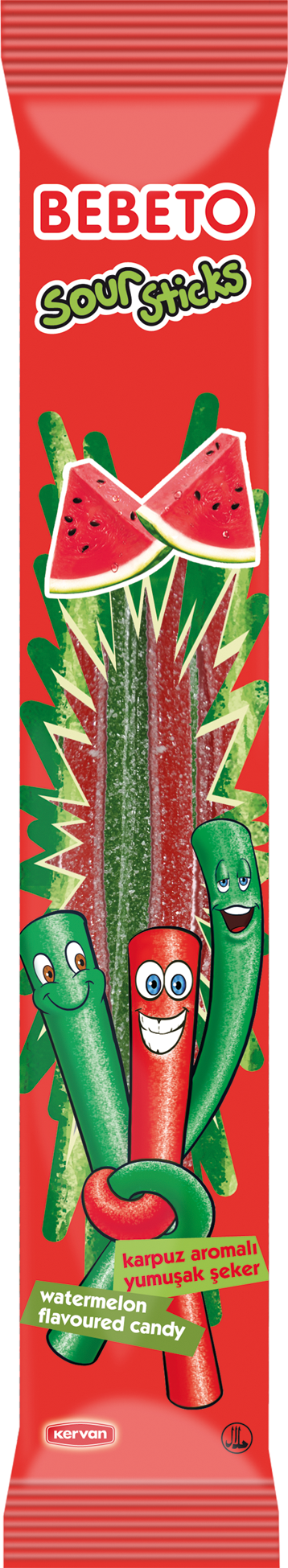 Bebeto Sour sticks watermelon