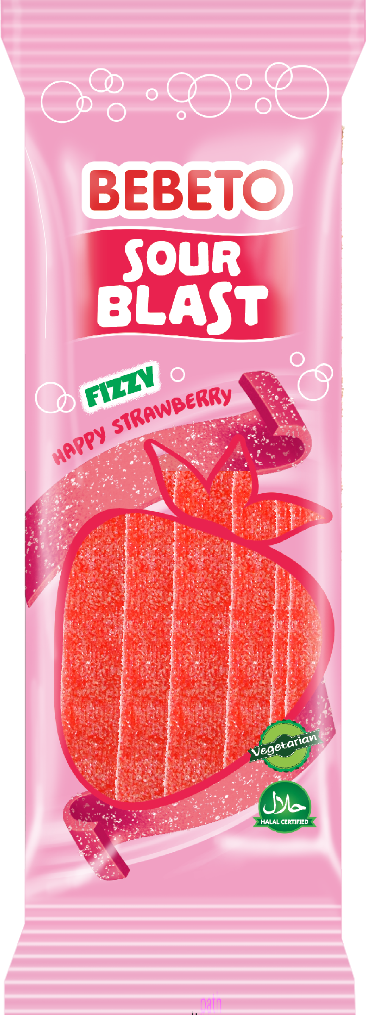 Sour Blast Fizzy Strawberry